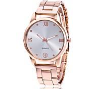 preiswerte -Herrn Damen Quartz Armbanduhr Chinesisch Armbanduhren für den Alltag Metall Band Charme Kleideruhr Silber Gold Rotgold