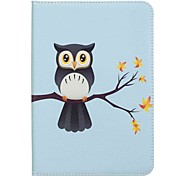 cheap -Case For Samsung Galaxy Tab S2 8.0 Full Body Cases Tablet Cases Owl Hard PU Leather for