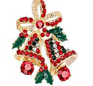 Жен. Броши Синтетический алмаз Сплав В форме цветка Бижутерия Назначение Рождество