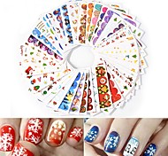 cheap -45pcs Water Transfer Decals Nail Stamping Template Daily Fashion High Quality