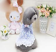 Собака Платья Одежда для собак Богемный стиль Однотонный Синий Розовый Костюм Для домашних животных