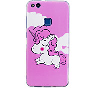 Case For P8 Lite (2017) P10 Lite Glow in the Dark IMD Pattern Back Cover Unicorn Soft TPU for Huawei P10 Lite Huawei P9 Lite Huawei P8