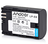cheap -Andoer LP-E6 Rechargeable Replacement Camera Camcorder Li-ion Lithium Battery Full Coded 1800mAh High Capacity for Canon EOS 5D Mark II 5D Mark III 5D