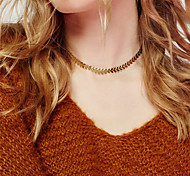 Women's Choker Necklaces Non Stone Alloy Leaf Euramerican Fashion Personalized Jewelry Party Special Occasion Daily Casual 1pc