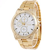 Men's Fashion Watch Wrist watch Chinese Quartz Colorful Alloy Band Silver Gold