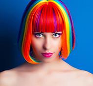 Недорогие -Искусственные волосы парики Прямой Волосы с окрашиванием омбре Без шапочки-основы Парик из натуральных волос Короткие Красный
