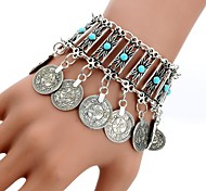 cheap -Women's Charm Bracelet Crystal Acrylic Tassel Bohemian Turquoise Alloy Circle Jewelry For Daily Casual