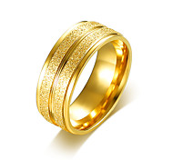 Men's Engagement Ring Band Rings Simple Basic Stainless Steel Gold Plated Round Jewelry Jewelry For Wedding Party