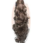 ponytail женщины длинный волнистый золотой блондинка партия естественная красота hairpiece claw клип на наращивание волос