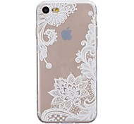 Case For iPhone X iPhone 8 Ultra-thin Transparent Pattern Back Cover Lace Printing Soft TPU for iPhone X iPhone 8 Plus iPhone 8 iPhone 7