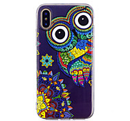 cheap -Case For Apple iPhone X iPhone 8 Plus Glow in the Dark IMD Pattern Back Cover Owl Soft TPU for iPhone X iPhone 8 Plus iPhone 8 iPhone 7