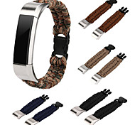Недорогие -для фиттинга alta fitbit alta hr ремни нейлоновая веревка выживание часы ремешок браслет часы группа