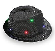 fedora led flashing sequins jazz cap хип-хоп шляпа вечеринка день рождения шляпы кепка свадебный Хэллоуин