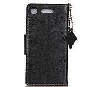 cheap -Case For Sony Xperia XA1 Xperia L1 Card Holder Wallet Flip Full Body Cases Solid Color Hard Genuine Leather for Sony Xperia XA1 Sony