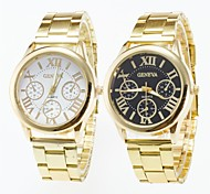 Men's Wrist watch Casual Watch Quartz Stainless Steel Band Gold