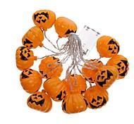 1 satz halloween kürbis string led-licht bar16 lampenfassung 2,5 mt weiß bunte 3 aa batteriebetrieben (nicht enthalten batterie