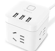 Недорогие -бык) gn-u303u au plug phone usb зарядное устройство силовые полосы 150 см 3 выхода 3 порта USB 10a ac 100v-250v