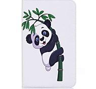 panda y patrón de bambú titular de la tarjeta de titular con estuche flip magnético pu caso de cuero para Samsung Galaxy Tab e 8.0 t377