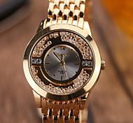 Mulheres Relógios Femininos com Cristais Relógio de Moda Relógio de Pulso Quartzo / Lega Banda Casual Elegant Legal Prata Dourada