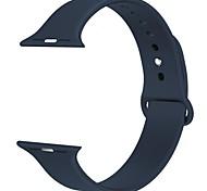 Gama de relógio de maçã de silicone 38mm para maçã série 2/1 / edição esportiva-preto