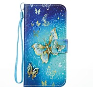 For Case Cover Card Holder Wallet with Stand Flip Magnetic Pattern Full Body Case Butterfly Hard PU Leather for Samsung Galaxy J7 (2017)