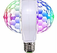 1 unid led rgb etapa bombilla e27 que gira para ktv bar disco party lámpara de la decoración de doble cabeza ac95-240v