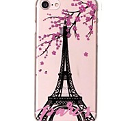 Case For iPhone X iPhone 8 Ultra-thin Transparent Pattern Back Cover Eiffel Tower Flower Soft TPU for iPhone X iPhone 8 Plus iPhone 8