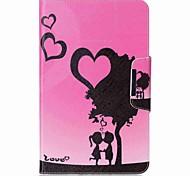 Недорогие -сердечный паттерн держатель карты с подставкой флип магнитный кожаный чехол pu для Samsung Galaxy Tab 10,1 t580n t585n 10,1-дюймовый