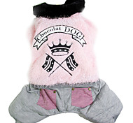 cheap -Dog Coat Dog Clothes Casual/Daily Solid Gray Coffee Pink Costume For Pets