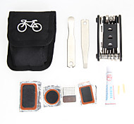 EA14 1x Bicycle Repair Tools Kit Biycle Cycling Puncture Bike Multi Function Tool Repair Kit Set With Pouch