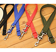 Dog Leashes Portable Solid Nylon Black Red Green Blue