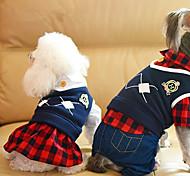 Собака Комбинезоны Платья Одежда для собак На каждый день Английский Черный Красный
