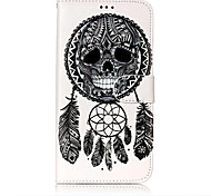 For Case Cover Card Holder Wallet with Stand Flip Pattern Full Body Case Skull Dream Catcher Hard PU Leather for Samsung Galaxy J7 (2016)
