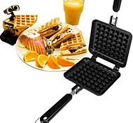 новое прибытие diy waffle pan 2 сетка без брызга пресс-формы для печенья
