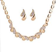 Жен. Серьги-гвоздики Ожерелья с подвесками Стразы На заказ Мода Повседневные Свидание Стразы Сплав Свисающие Ожерелья Серьги
