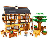 Недорогие -Конструкторы Игрушки Мебель Лошадь Архитектура Пейзаж Мода Детские Куски