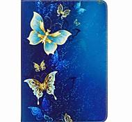 Недорогие -Кейс для Назначение SSamsung Galaxy Вкладка 9,7 Чехол планшетный случаи Бабочка Твердый Кожа PU для