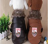 Недорогие -Собака Плащи Рождество Одежда для собак На каждый день Сохраняет тепло Хэллоуин Северный олень Черный Кофейный Красный Костюм Для