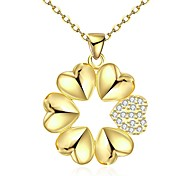 cheap -Women's Irregular Flower Simple Vintage Basic Elegant Statement Jewelry Hiphop Sweet Pendant Necklace Chain Necklace Crystal Cubic