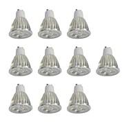 10pcs 5W GU10 Focos LED 10 leds LED de Alta Potencia Regulable Blanco 400lm 6000K 110-120V