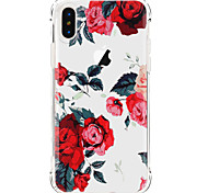 cheap -Case For Apple iPhone X iPhone 8 iPhone 8 Plus Ultra-thin Transparent Pattern Back Cover Flower Soft TPU for iPhone X iPhone 8 Plus