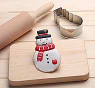 Snowman Cookies Cutter Stainless Steel Biscuit Cake Mold Fondant Baking Tools