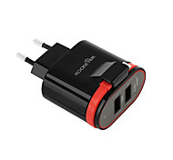 eu plug us plug phone usb charger 2.4 cm розетки 2 порта USB 3.1a ac 100v-240v