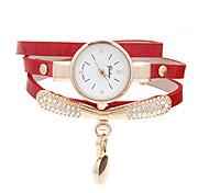 Women's Bracelet Watch Casual Watch Quartz Rhinestone Leather Band Casual Black White Blue Red Orange Green Gold