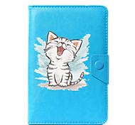 Недорогие -универсальный мультфильм кошка pu кожаный чехол для крышки для 7-дюймового 8-дюймового 9-дюймового планшета с 10-дюймовым планшетом