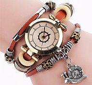 Damen Armbanduhren für den Alltag Modeuhr Einzigartige kreative Uhr Chinesisch Quartz Chronograph PU Band Freizeit Weihnachten Schwarz