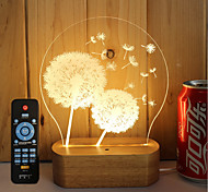 cheap -1set 3D Nightlight Dimmable Creative Color-Changing Decorative LED Light 5V Artistic LED Modern/Contemporary
