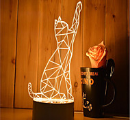 1 Set Of 3D Mood Night Light Hand Feeling Dimmable USB Powered Gift Lamp Cat