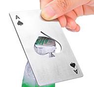 Недорогие -1pc творческая покерная карта лопата форма кредитной карты пиво вина соды бутылка колпачок открывалка бар кухонный инструмент