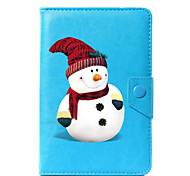 cheap -Case For Full Body Cases Tablet Cases Snowflake Hard PU Leather for